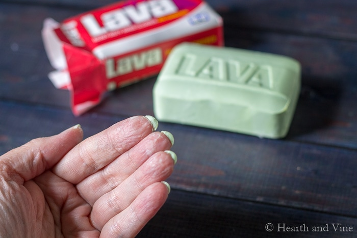 Garden hack Lava soap under fingernails