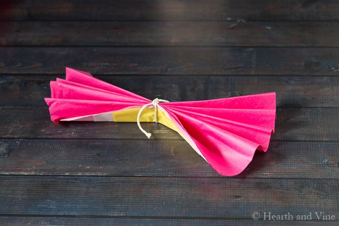 Paper Flower Garland - For Festive Colorful Party Decor