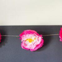 Paper flower garland inside.