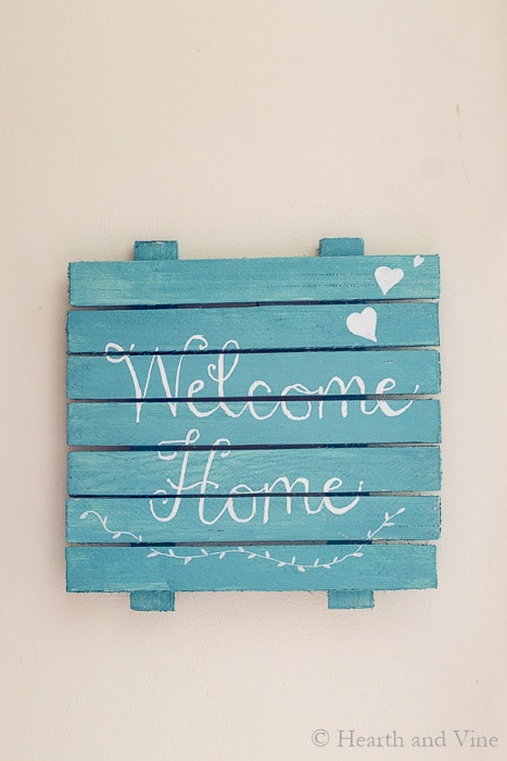 Wooden Welcome Home Sign