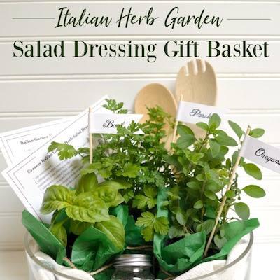 Salad dressing gift basket - Oregon cottage