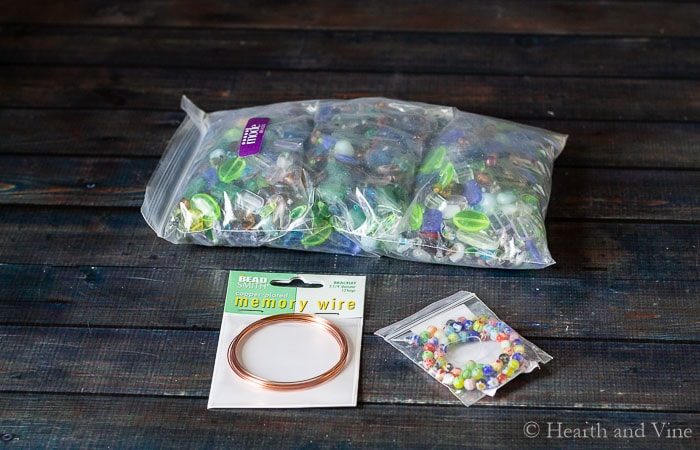 Supplies for beaded ornaments