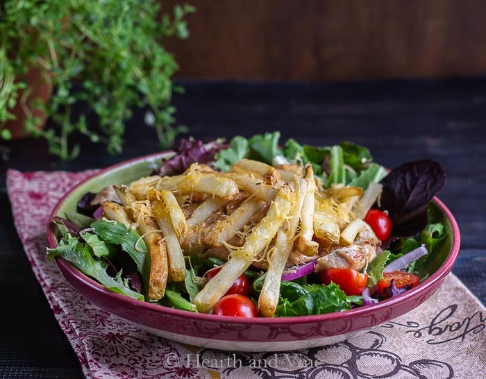 Pittsburgh salad with fries