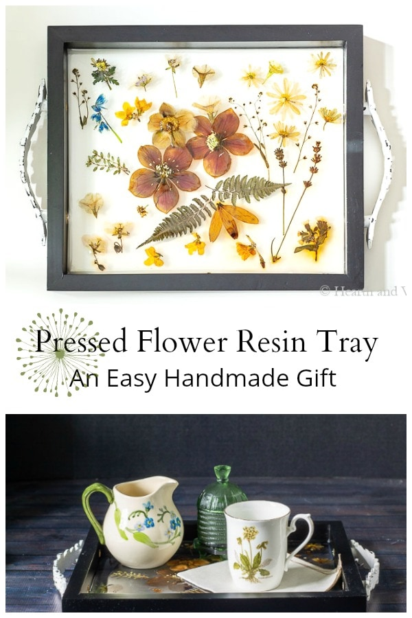 Pressed flower resin tray make a fabulous gift.