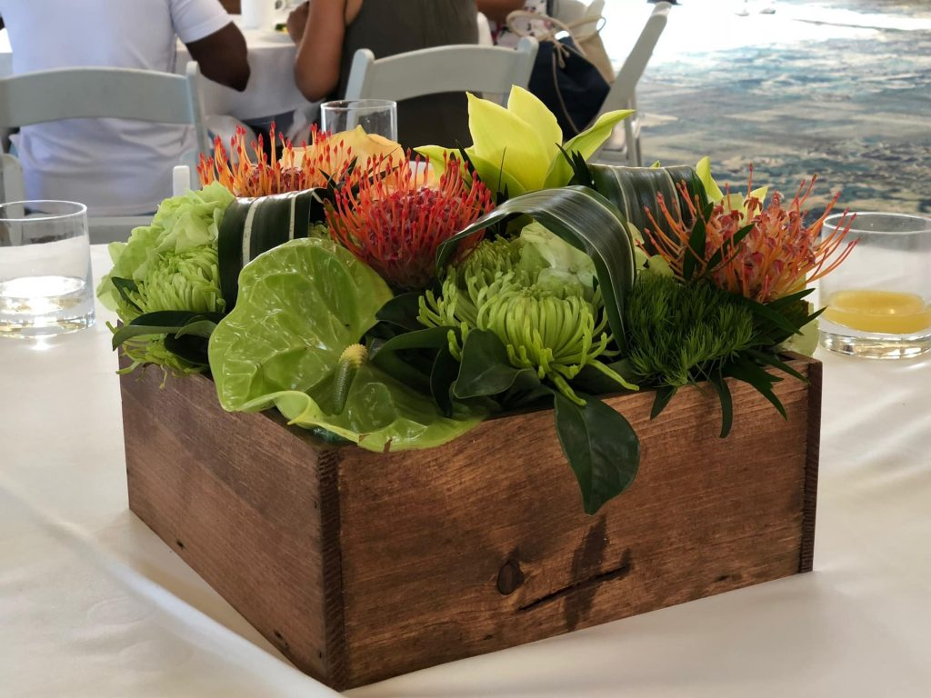 Flower centerpiece in Hawaii