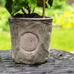 Grout decorated cheap flower pot