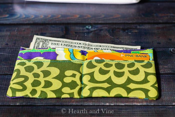 Open mini fabric wallet