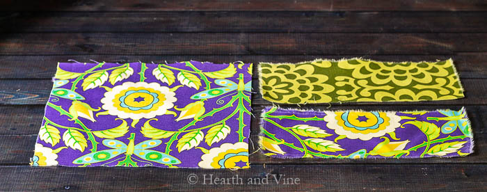 Mini fabric wallet pieces