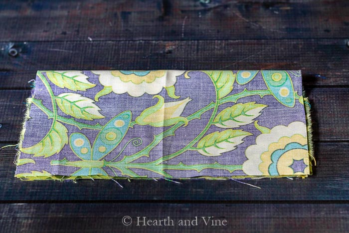 Mini fabric wallet - main piece fold over