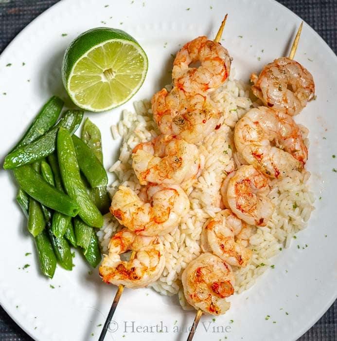 Ginger lime shrimp dinner