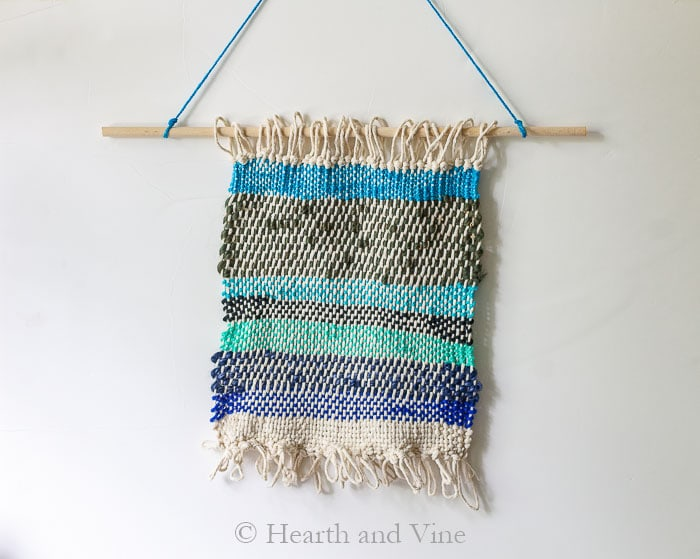 Canvas frame loom wall hanging