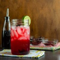 Hibiscus margarita in a mason jar