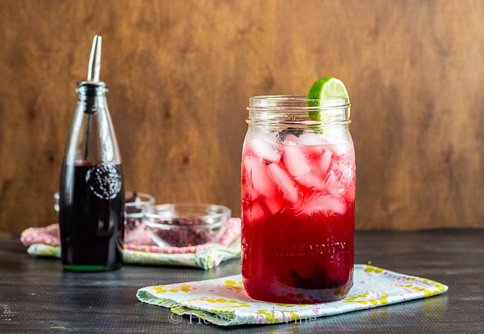 Margarita with hibiscus syrup