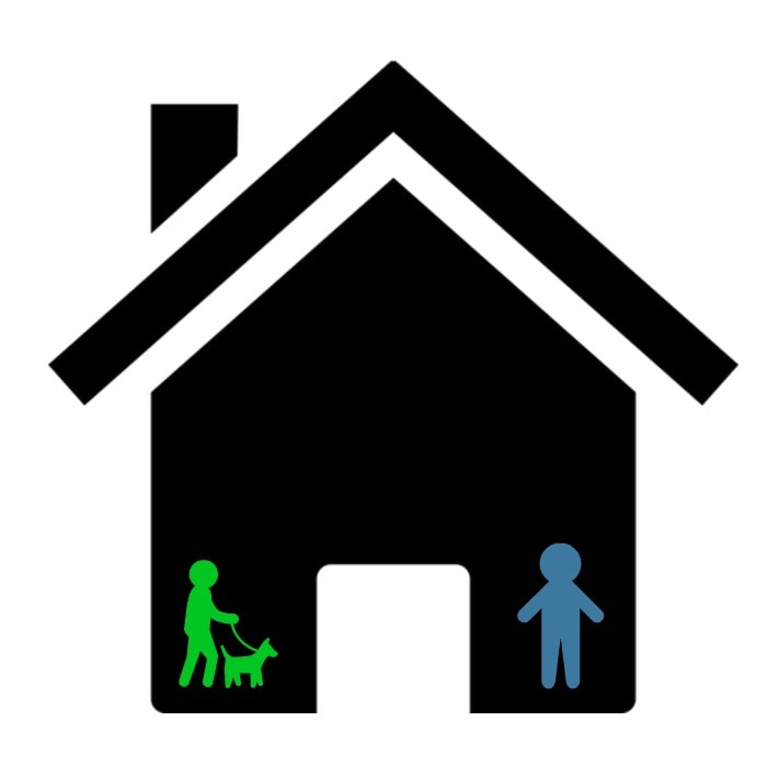 House and pet sitter graphic