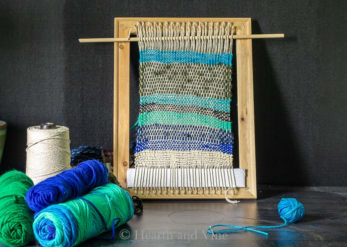 weaving loom from canvas frame