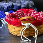 Basket Liners Made with Simple Bandanas