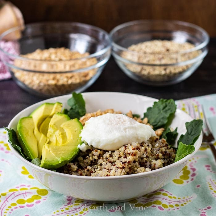 Power grain bowls for any time of day.