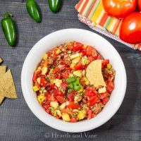 Fresh tomato pineapple salsa bowl