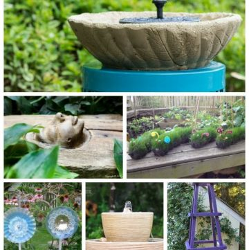 17 garden art projects collage