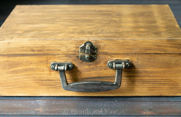 Stained and antiqued box