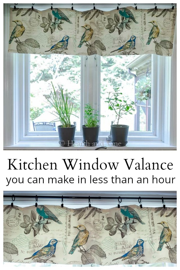 DIY Kitchen Window Valance