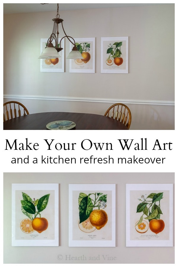 kitchen wall art collage