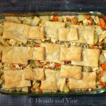 Chicken pot pie casserole baking dish