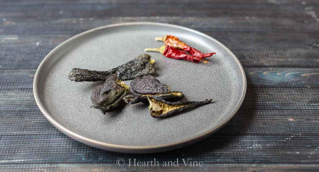 Dried poblanos