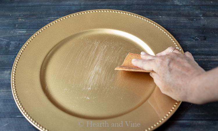Sanding plate