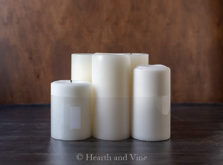 Transparency film around candles