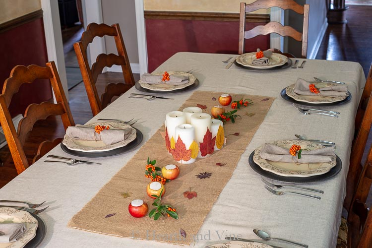 Natural fall centerpiece table