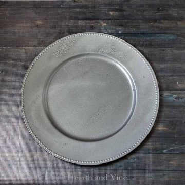 Faux galvanized charger plates