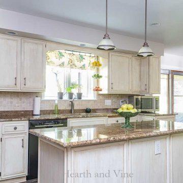 Kitchen update island view.