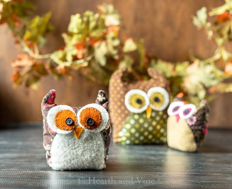 Middle size fabric owl