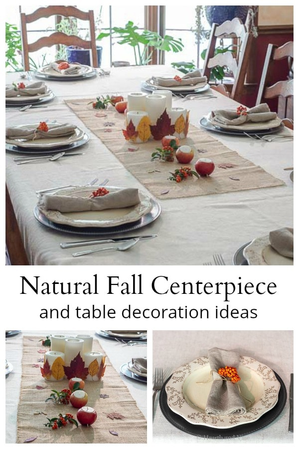 Fall natural centerpiece and table decoration ideas