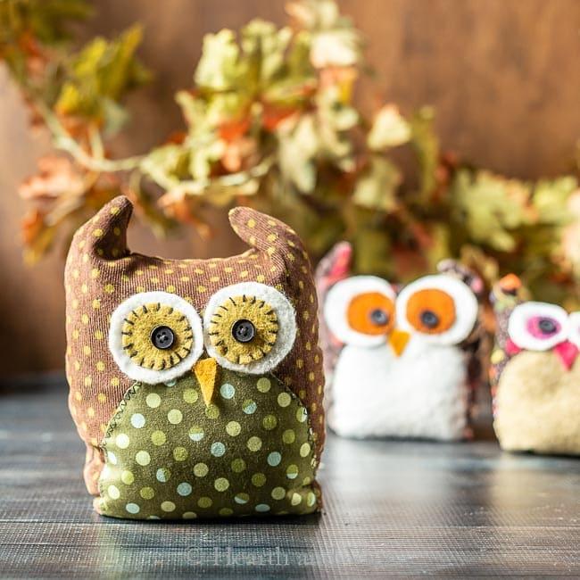 Large fabric owl