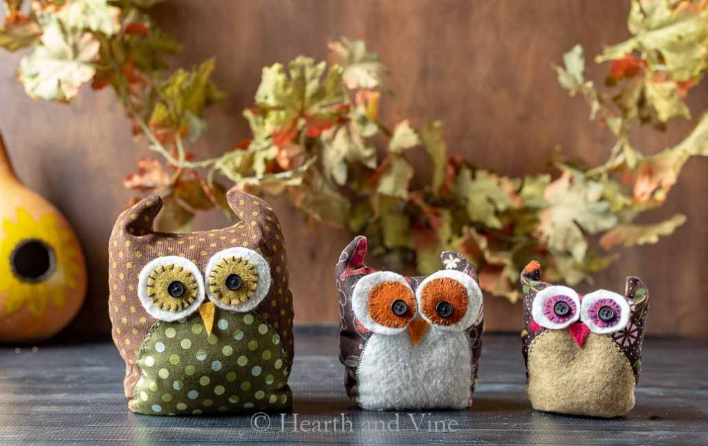 How to Make Fabric Owls – Free Pattern Template