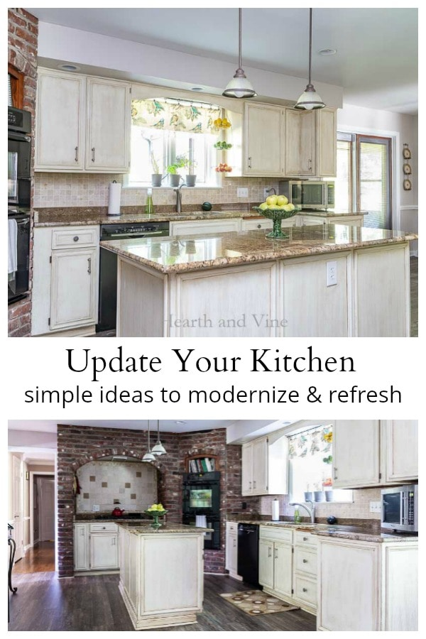 Ways to update your kitchen with two views.