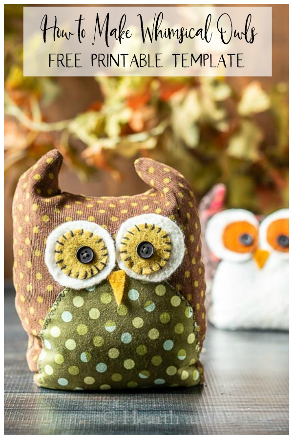 Whimsical fabric owls