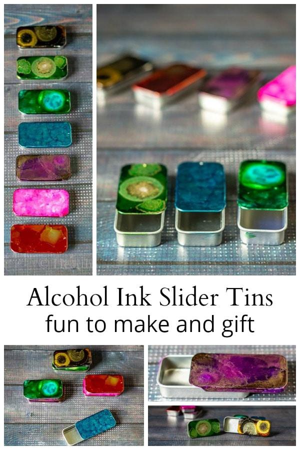 alcohol inks on metal