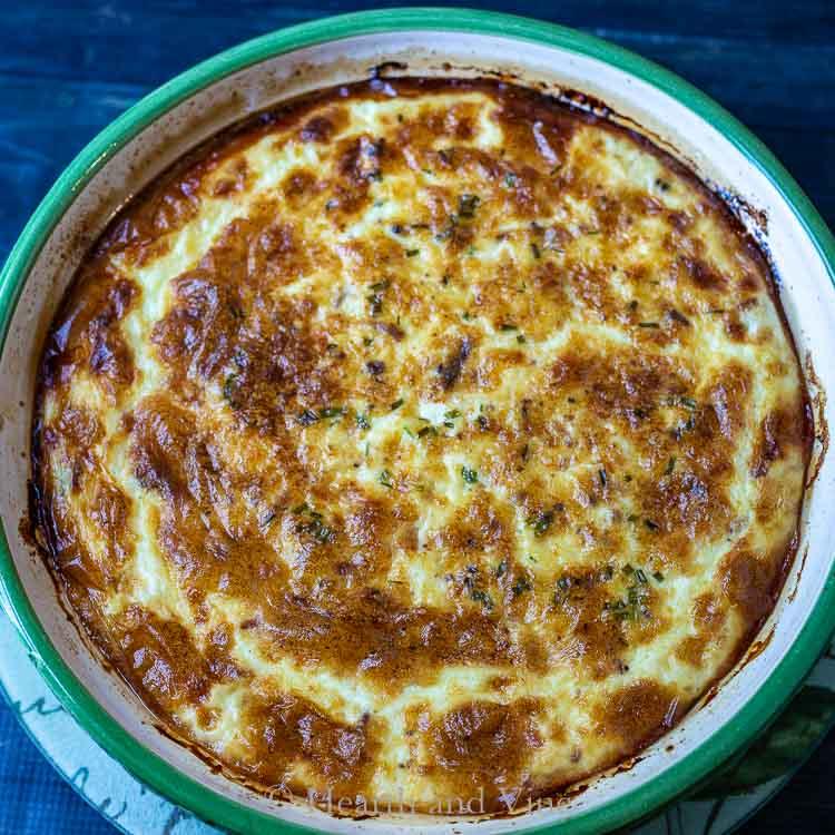 Baked crustless quiche Lorraine