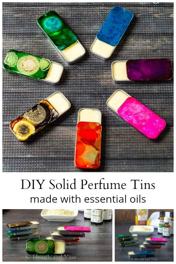 Solid perfume tins collage