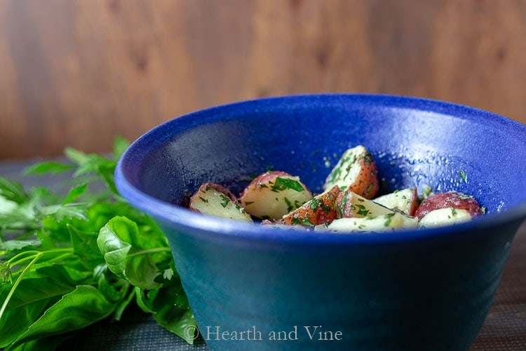 New potatoes with herbs