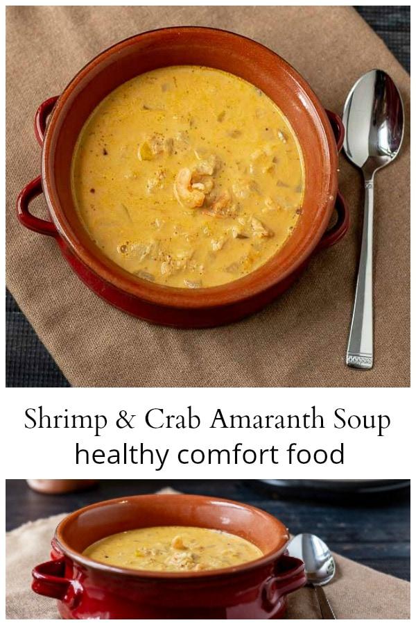 Shrimp Crab & Amaranth Soup Collage