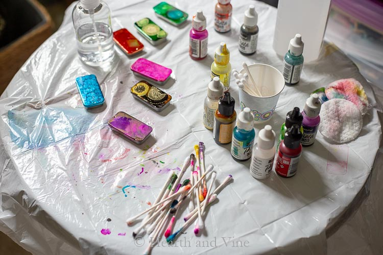 Alcohol ink work space