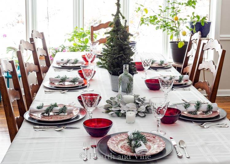 Christmas table decorations and ideas