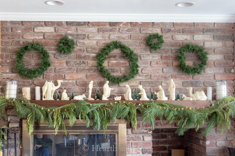 Repurposed Christmas garland into a wreath gallery