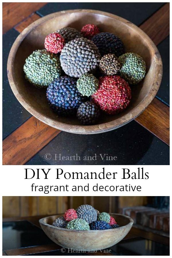 Spice covered pomander balls