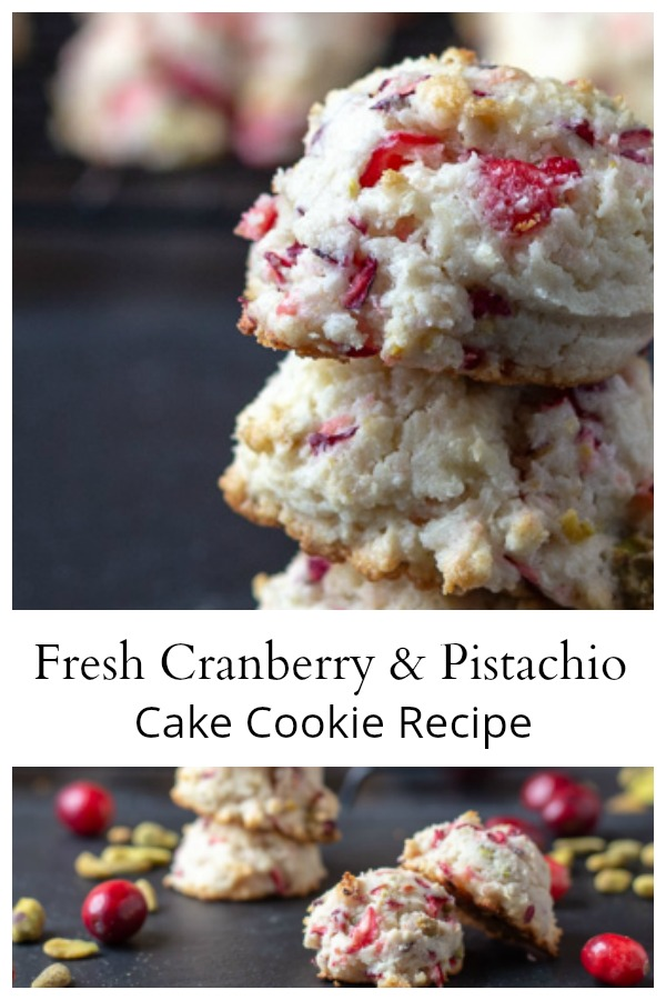 Fresh cranberry pistachio cake cookies