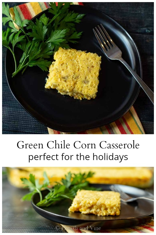 Spicy green chile corn casserole